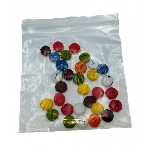 Bolsas De Plástico ZIP Con Autocierre 60mm X 80mm, Galga 200