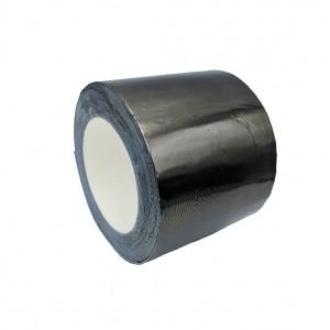 Fita Adesiva De Butilo Com Alumínio, Cor Preto - Cinzento