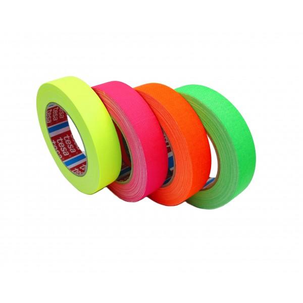 TESA® Cinta Adhesiva de Tejido Fluorescente TESABAND 4671