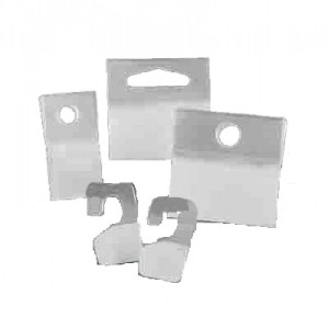 3M™ Perchas Adhesivas Delta 1075, HANG TABS, Transparente 50mm X 50mm