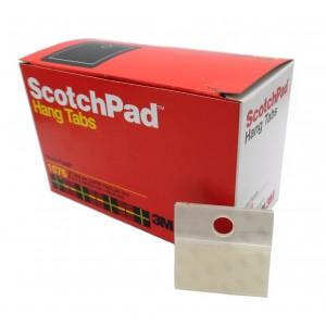3M™ Perchas Adhesivas Redondas 1076, HANG TABS, Transparente 50mm X 50mm