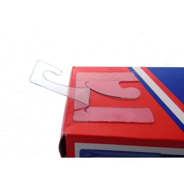 Perchas Adhesivas Transparentes Con Garfio Reversible, 45mm X 42mm, Grosor 500 Micras