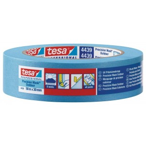 TESA® Fita De Pintura De Papel Premium, Mascara De Precisão Para Exterior 4439 Azul – Rolo De 50m X 19mm