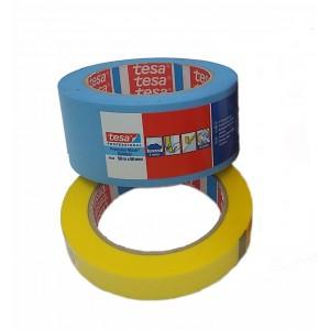 TESA® Fita de Pintura Precision Mask 4334, Mascara De Precisão Amarela – Rolo de 50m x 25mm
