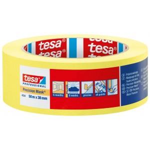 TESA® Cinta de Enmascarado Precision Mask 4334 Amarilla