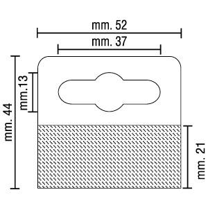 Cabides Adesivos CLUB Transparentes, 44mm X 52mm, Espessura 400 Microns