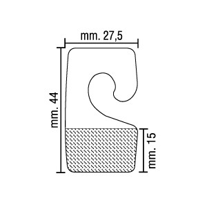 Cabides Adesivos HOOKS Transparentes, 44mm X 27,5mm