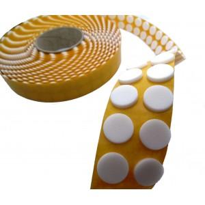 Círculos de Adesivo de Espuma de Polietileno, para Fixar CD e DVD, Branco