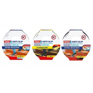 TESA® Cinta Adhesiva Antideslizante 55580 / 55587 – Rollo de 5m x 25mm