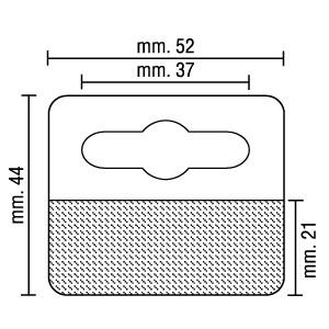 Perchas Adhesivas FLEXY Transparente 44mm x 52mm, Peso Máximo Aonsejado 300g