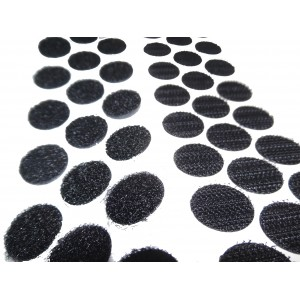 Cinta De Velcro Doble Macho-Hembra, HOOK&LOOP, Negro