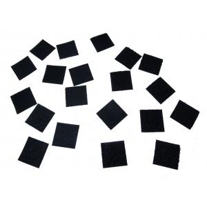 Carrés Découpés Velcro Adhésif, Noir