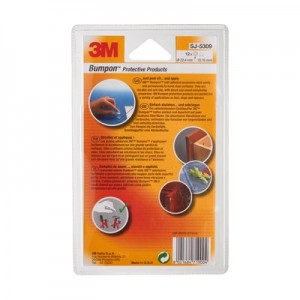 3M™ Bumpon™ SJ5309 Transparent, Ø 22,40mm x H. 10,16mm