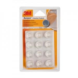 3M™ Bumpon™ SJ5309 Transparente 22.40mm Ø x 10.16mm Alt – Embalagem de 12 Unidades