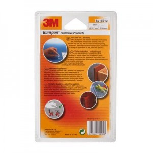 3M™ Bumpon™ SJ5312 Transparent Ø 12,70mm x H. 3,56mm