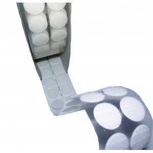 Círculos Troquelados De Velcro Adhesivo, 13mm Diámetro