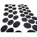 Cercles Découpés Velcro Adhésif, 16mm Diamètre, Noir