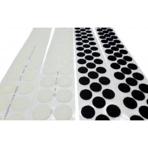 Círculos Troquelados De VELCRO® Adhesivo, 10mm Diámetro - Rollo de 5.750 Unidades