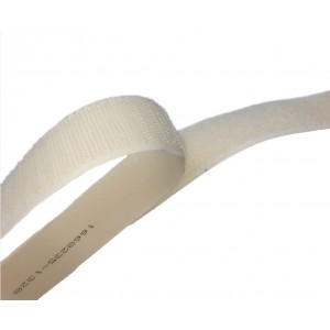 """Cinta De Velcro Adhesivo """"A"""" Blanco - Rollo De 25m x 50mm"""