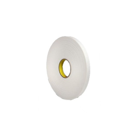3M™ Cinta de Espuma de Doble Cara 9508W Blanca – Rollo de 66m x 12mm x 0.8mm