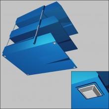Tope Adhesivo PUR Cuadrado 6212 Transparente 12,60mm lado x 5,80mm alt.