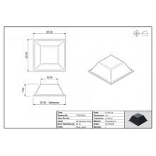 Bumper Adesivo PUR Quadrado 5022 Transparente 20,5mm Lado x 7,5mm Alt.