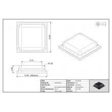 Bumper Adesivo PUR Quadrado 0012 Transparente 10mm Lado x 2,5mm Alt. – Folha de 242 Unidades
