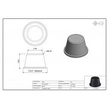 Tope Adhesivo PUR Cilíndrico 4612 Transparente 16,5mm Ø x 10,5mm alt. – Hoja de 128 Topes