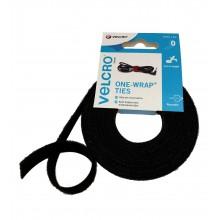 """Ruban Velcro Double """"ONE WRAP"""", Mâle-Femelle, Hook&Loop, """"60253"""" Noir"""