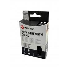 """Círculos Troquelados De Velcro Adhesivo """"Ultra Fuerte"""" Macho-Hembra, 45mm Diámetro, """"VEL-20010"""" Negro"""