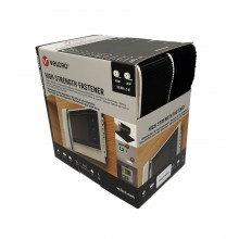 """Cinta De Velcro Adhesivo """"Ultra Fuerte"""", """"VEL-PS20009"""" Negro - Caja 2 Rollos Macho y Hembra De 5m x 50mm"""