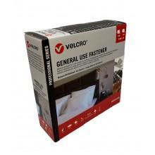 """Fita De Velcro Adesivo """"Uso Geral"""" """"VEL-PS20003"""", """"VEL-PS20002"""" - Caixa 2 Rolos Macho e Fêmea De 5m x 20mm"""