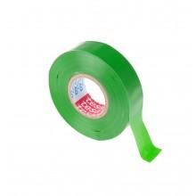 TESA® Cinta Aislante Homologada TESAFLEX 53948 Verde – Pack de 5 Rollos de 10m x 19mm