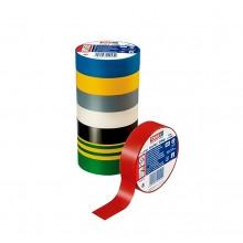 TESA® Fita Isolante Aprovada TESAFLEX 53948 Amarelo – Pack de 8 Rolos de 10m x 19mm