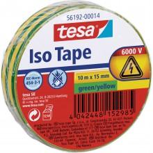 TESA® Cinta Aislante PVC 56192 Hasta 6000V Amarillo/Verde