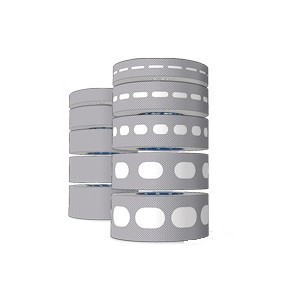 Antidust 38mm Adhesive Tapes Pack - Two Rolls (Blind and Perforated) of 6.5m x 38mm
