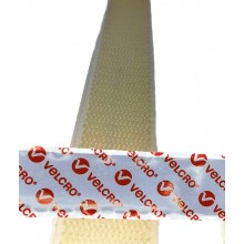 "Cinta De VELCRO® Original Con Adhesivo ""PS14"" Hook Macho Blanco - Rollo De 25m x 20mm"