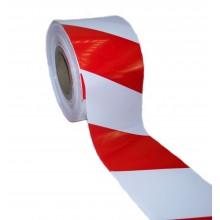 Fita de Marcação de Perímetro de PE, Padrão, Branco / Vermelho, Calibre 200 - Rolo de 250m x 100mm