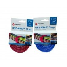 "Bridas VELCRO® ""ONE WRAP®"" Doble Macho-Hembra, HOOK&LOOP ""VEL-OW64303"" ""VEL-OW64305"" - Pack 25 bridas de 20mm x 200mm"