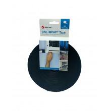 """Velcro® """"ONE WRAP®"""" Duplo Gancho-Laço, HOOK&LOOP """"VEL-OW64114"""" Preto - Rolo de 25m x 13mm"""