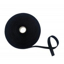"Cinta De VELCRO® ""ONE WRAP®"" Doble Macho-Hembra, HOOK&LOOP, Negro - Rollo De 25m x 16mm"