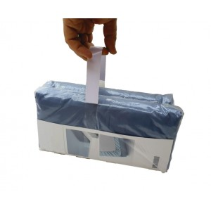 Asas Adhesivas Para Agrupaciones, Papel Blanco, Adh. 155mm + 150mm Papel + 155mm Adh., Anchura 25mm – Rollo De 717 Asas