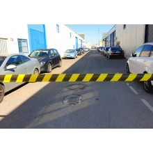 Fita de Marcação de Perímetro de PE, Padrão, Amarelo / Preto, Calibre 200 - Rolo de 250m x 100mm