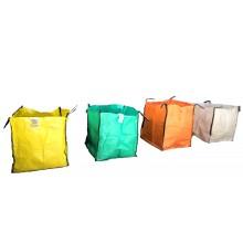 Saco Big Bag 1m3, Medidas 90cm x 90cm x 90cm - Amarillo - Pack de 5 Unidades