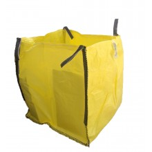 Saco Big Bag 1m3, Medidas 90cm x 90cm x 90cm - Amarillo- Pack de 5 Unidades
