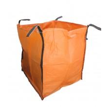 Saco Big Bag 1m3, Medidas 90cm x 90cm x 100cm - Naranja- Pack de 5 Unidades