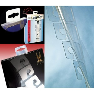 Perchas Adhesivas Transparentes, 40mm X 32mm, Grosor 400 Micras