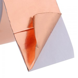 Cinta Adhesiva De Cobre Liso Con Adhesivo Conductor – Rollo De 33m X 12mm
