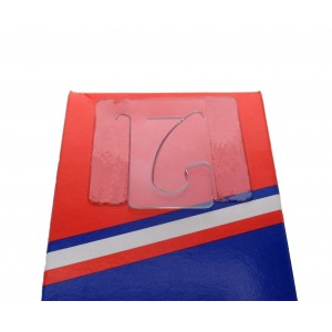 Transparent Adhesive Hangers With Reversible Hook, 45mm X 42mm, 500 Micron Thickness - Roll Of 600 Hangers
