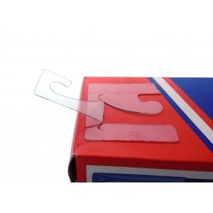 Cabides Adesivos Transparentes Com Gancho Reversível, 45mm X 42mm, Espessura 500 Microns